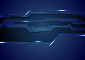 Abstracte donkerblauwe technologie-conceptenachtergrond