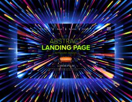 Dynamic Futuristic Landing Page Design