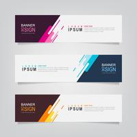 Set of Geometric Color Splash Banners