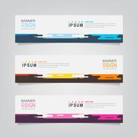 Set of Abstract Geometric Colorful Banners