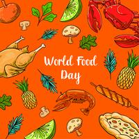 World Food Day With Colorfull Fruits