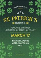 St Patrick Holiday Party Poster and Flyer Invitation