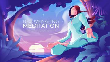 Rejuvenating Meditation  vector