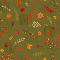 Abstract seamless autumn pattern