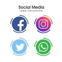 Social media icon design collectie