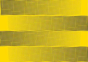 Yellow halftone dotted stripes