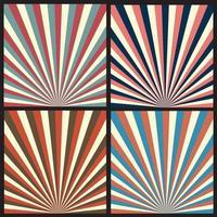 Colección de fondo vintage moderno abstracto
