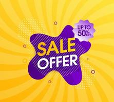 Abstract sale yellow background