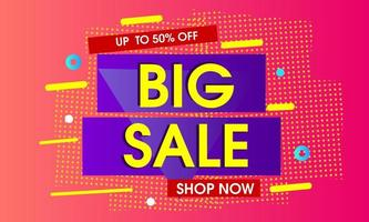Big sale  with pink abstract background