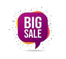 Abstract Big sale badge design
