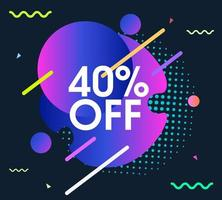 Abstract modern offer sale background