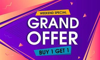 abstract grand offer background