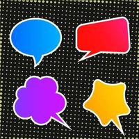 Abstract colorful speech bubble collection vector