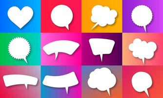 Vector speech bubble collections