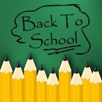 Back to school message in pencil lettering