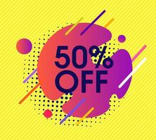 Abstract sale vector design