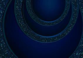 fundo de corte de papel de brilho azul