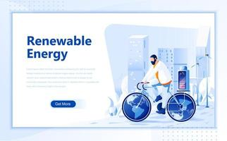 Renewable energy flat web page design