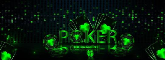 banner casino gambling tournament vector