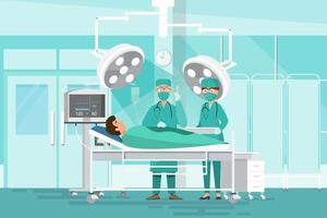 Surgeon team doctors operating