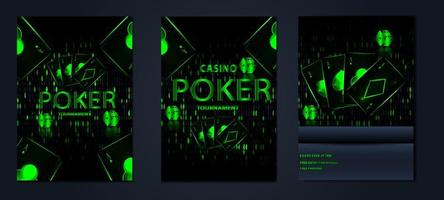poster casino gambling tournament Card set vector