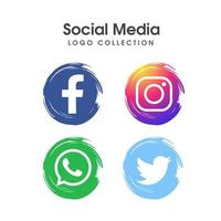 Social media logo pictogrammenset