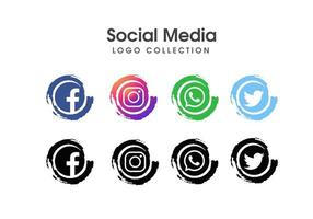 Social media vector logo collectie