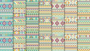 Ethnic aztec seamless pattern