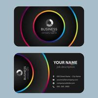 Black Modern Colorful Business Card vector