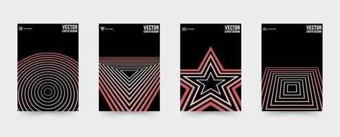 Star Brochure cover template set vector