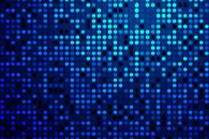 Glowing blue gradient technological dots pattern