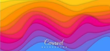 Colorful Wave Carnival Background  vector