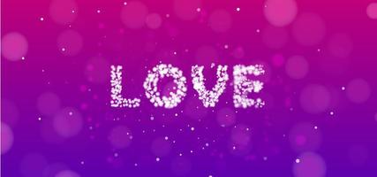 Pink and Purple Love Banner