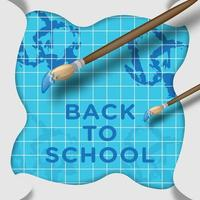 Back to school folded paper background