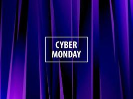Modern explosion abstract banner. Cyber Monday.