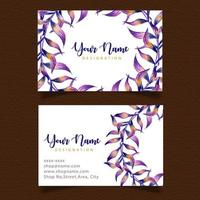 Watercolor Leaf Business Card