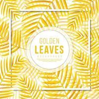 Fondo de hojas doradas vector