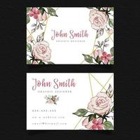 Biglietto da visita floreale rosa
