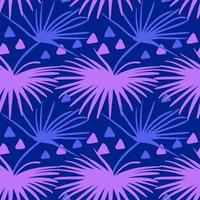 Seamless tropical pattern. Summer exotic plants ornament
