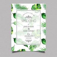 Carta di invito matrimonio tropicale