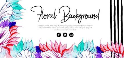 Hermoso fondo floral acuarela