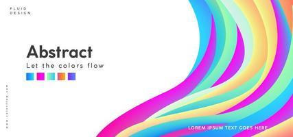 Fondo abstracto de onda colorida
