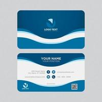 Curves Modern Colorful Business Card vector