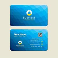 Blue Low Poly Modern Colorful Business Card