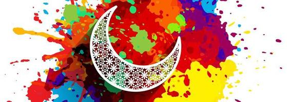 Ramadan Kareem colorful splatter banner