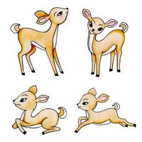 Watercolor Autumn Deer Collection