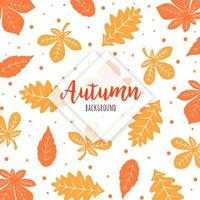 Orange and Yellow Autumn Leaves Pattern