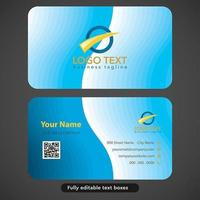 Modern Blue  Curves Business Card  vector