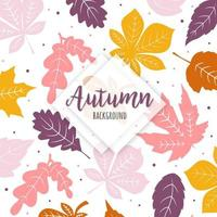 Pink and Yellow Leaves Background