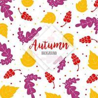 Modello di foglie colorate d'autunnali
